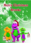 Personalised Barney & Friends Christmas Card